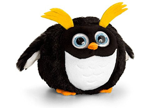10cm Adoraball Penguin Black with Yellow Brows