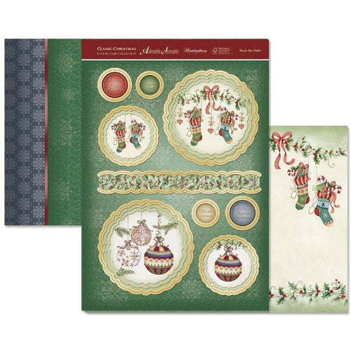 hunkydory adorable scorable luxury card collection classic christmas deck the halls - hanrattycraftsgifts.co.uk