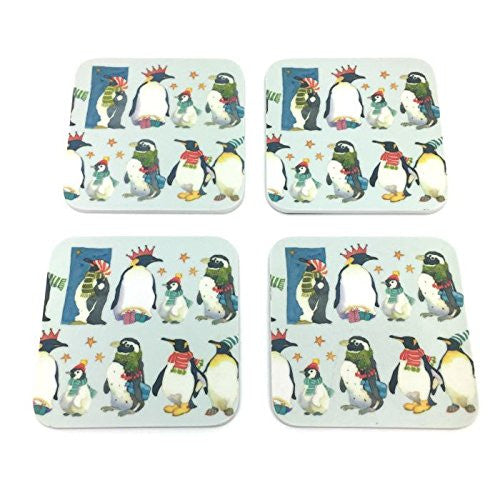 emma ball winter penguins coaster set - hanrattycraftsgifts.co.uk