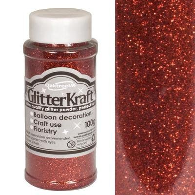 Glitter Kraft Red Powder 100g - hanrattycraftsgifts.co.uk