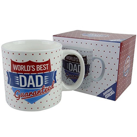 World's Best DAD DADDY GRANDAD Jumbo MUG/CUP by Leonardo Gift Box Fathers Day - hanrattycraftsgifts.co.uk