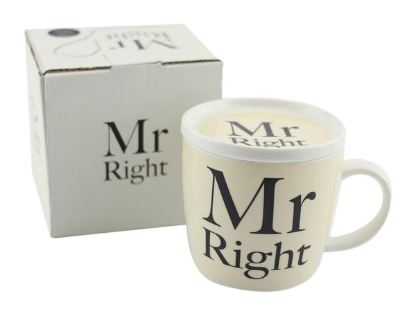 "Leonardo LP27902A ""Mr Right"" Mug and Coaster - hanrattycraftsgifts.co.uk"