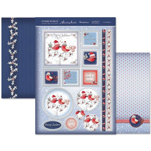 hunkydory adorable scorable luxury card collection stylish season love robins - hanrattycraftsgifts.co.uk