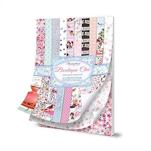 hunkydory specialitiy paper pad boutique chic - hanrattycraftsgifts.co.uk