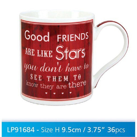 vintage friend stars china mug x1 - hanrattycraftsgifts.co.uk
