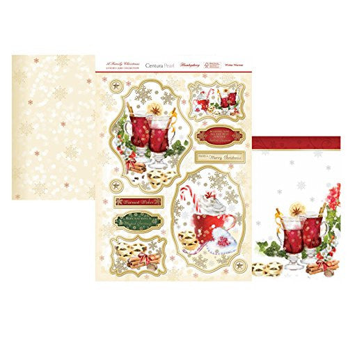 hunkydory a family christmas luxury card collection topper set winter warmer - hanrattycraftsgifts.co.uk