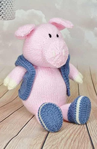 KNITTING PATTERN Pig in Jacket Soft Toy From Knitting by Post - hanrattycraftsgifts.co.uk