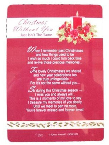 Christmas Without You.Graveside Memorial Christmas Card Holder Christmas Without You 3520
