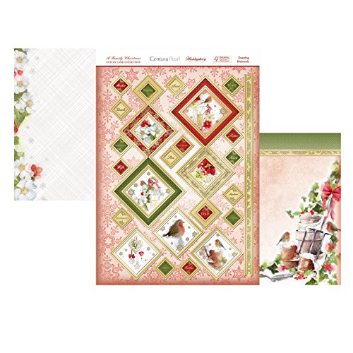 hunkydory a family christmas luxury card collection topper set dazzling diamonds - hanrattycraftsgifts.co.uk