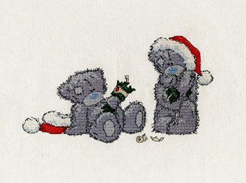 "DMC 14 Count Me to You ""Christmas Crackers"" Cross Stitch Kit - hanrattycraftsgifts.co.uk"