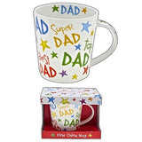 Super Dad Best Dad Special Dad Rainbow Mug in Gift Box