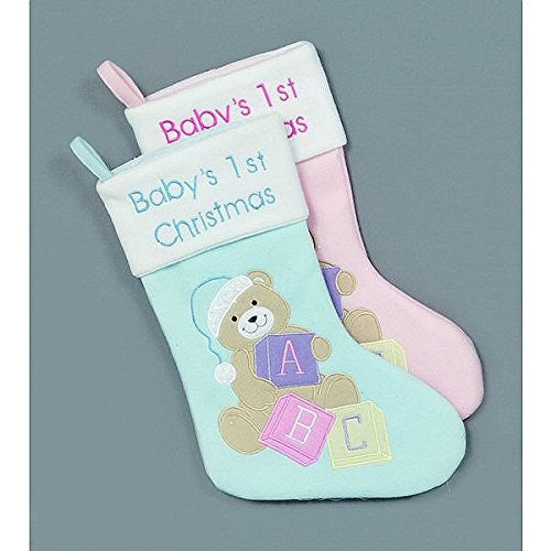 1 x Premier Baby'S First Stocking 41cm Pink or Blue