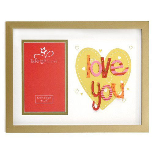 Wooden Love You Photo Frame, gift - hanrattycraftsgifts.co.uk