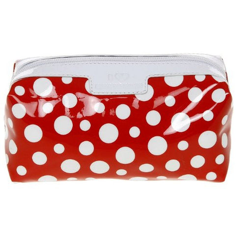 dotty red wash bag