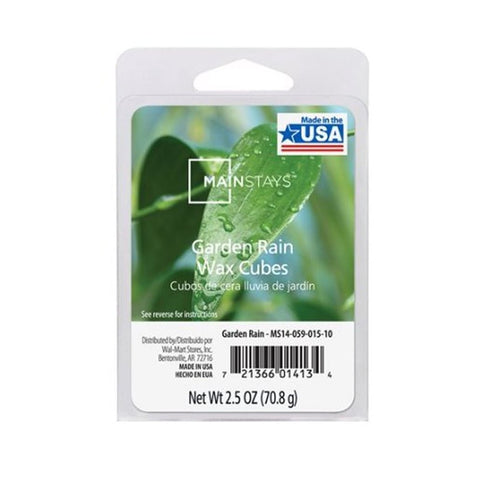Mainstays Garden Rain Scented Wax Cube Melts MS14-059-015-10