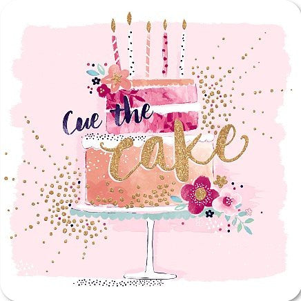 Hotchpotch Greetings Card - Rosé - Cue the Cake - hanrattycraftsgifts.co.uk