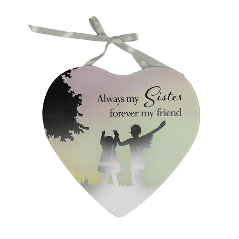 Always my Sister Forever my Friend- Reflections from the Heart Mirrored Hanging Plaque
