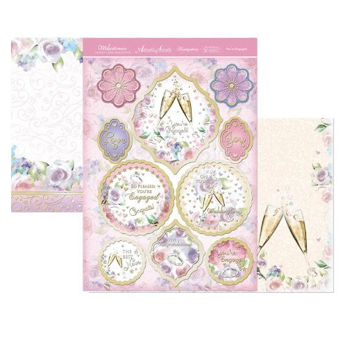 hunkydory adorable scorable luxury topper set milestones you re engaged - hanrattycraftsgifts.co.uk