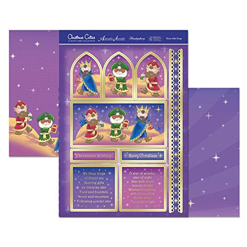 hunkydory adorable scorable christmas cuties three little kings - hanrattycraftsgifts.co.uk