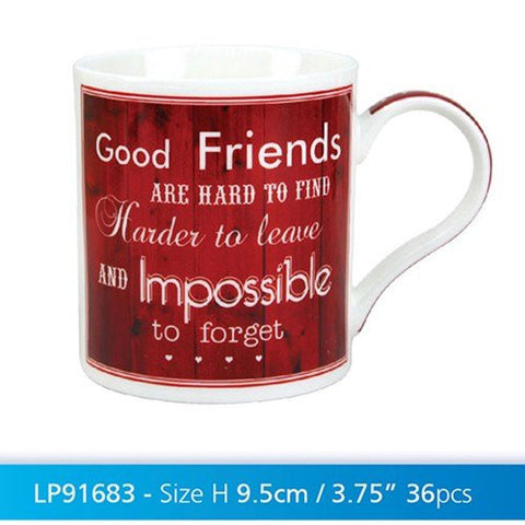 vintage good friends china mug - hanrattycraftsgifts.co.uk