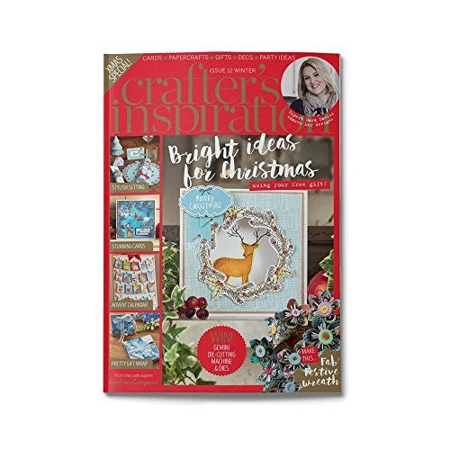 Crafters Inspiration Magazine Issue 12 Winter Edition by Crafters Companion - hanrattycraftsgifts.co.uk