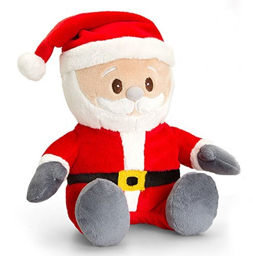 Classic Collection Christmas Pals 25cm by Keel Toys - SANTA Plush Soft Toy - hanrattycraftsgifts.co.uk