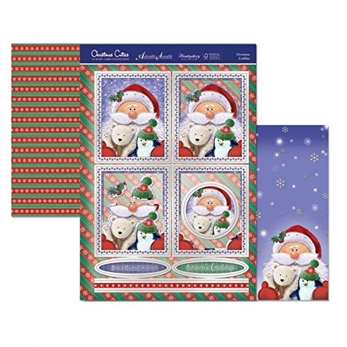 Luxury Topper Set: Christmas Cuddles ~ Foiled Individual Topper Set - hanrattycraftsgifts.co.uk