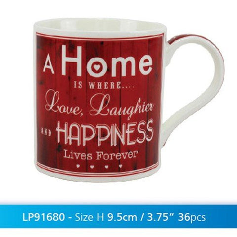 vintage love & laugh china mug - hanrattycraftsgifts.co.uk
