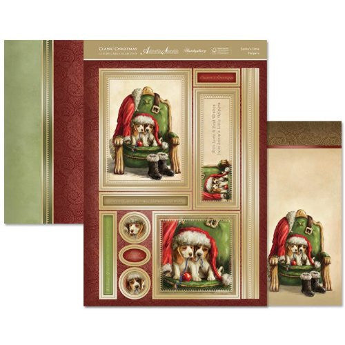 hunkydory adorable scorable luxury card collection classic christmas santas little helpers - hanrattycraftsgifts.co.uk