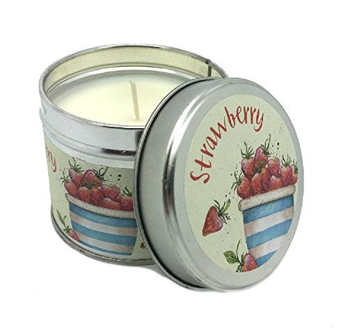 Emma Ball - Strawberry Scented Candle TIn - Reviving - 35 Hour Burn Tin - hanrattycraftsgifts.co.uk