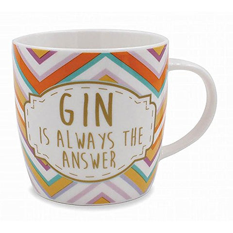 gin is always the answer mug - hanrattycraftsgifts.co.uk