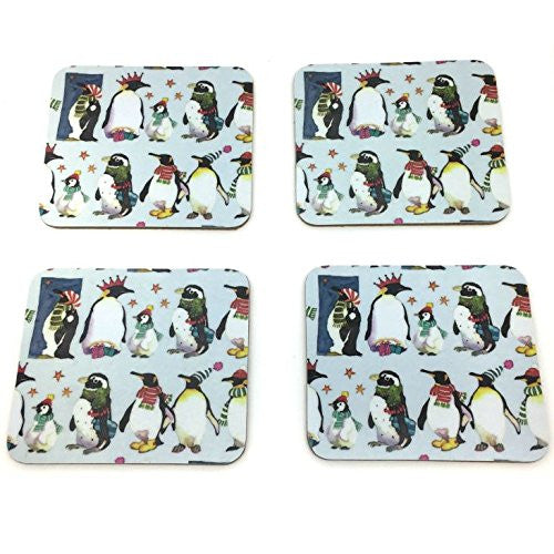 WINTER PENGUINS COASTER PACK (4PACK)