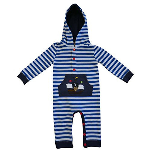 powell craft pirate boat hooded jumpsuit 0-6 months - hanrattycraftsgifts.co.uk