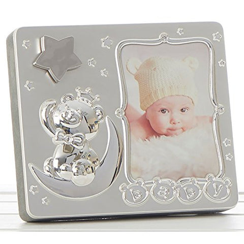 Baby Star Silver Music 3x5 Frame - hanrattycraftsgifts.co.uk