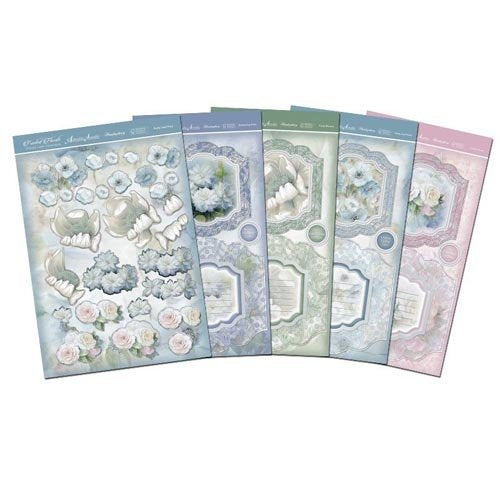 Hunkydory Frosted Florals - Ribbon-Edge Diarama Premium Card Kit - hanrattycraftsgifts.co.uk