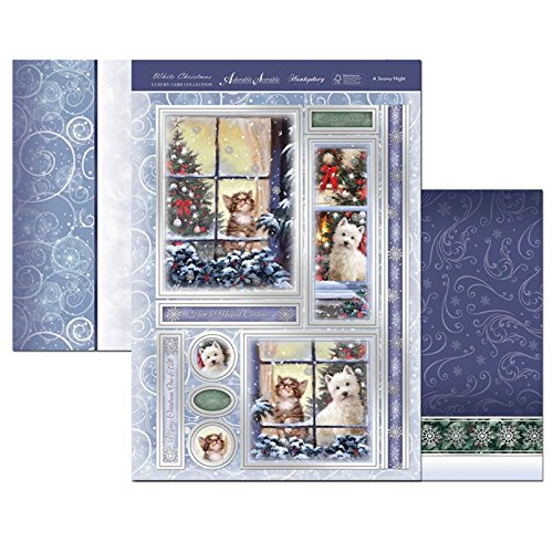 hunkydory adorable scorable white christmas a snowy night - hanrattycraftsgifts.co.uk