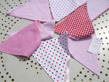 Powell Craft Handmade Pink Bunting - Perfect for Nursery / Babies Room / Play Room - hanrattycraftsgifts.co.uk