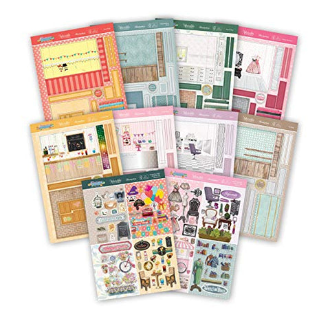 Hunkydory High Street For Her - Concept Card Collection - Makes 8 Shop Window Cards - hanrattycraftsgifts.co.uk