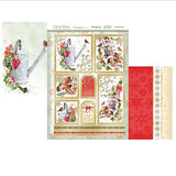 hunkydory a family christmas luxury card collection topper set a little robin - hanrattycraftsgifts.co.uk