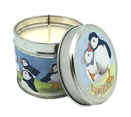 Emma Ball - Playful Puffin - Vanilla Scented Candle TIn - Festive - 35 Hour Burn Tin