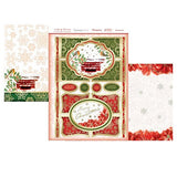 hunkydory a family christmas luxury card collection topper set poinsettia post - hanrattycraftsgifts.co.uk
