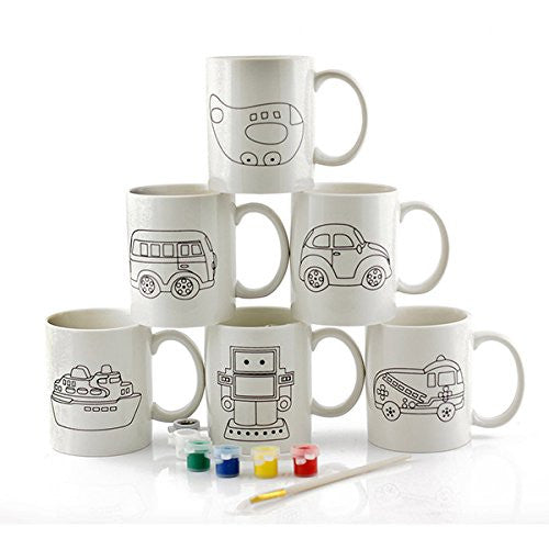 paint your own mug transport one supplied