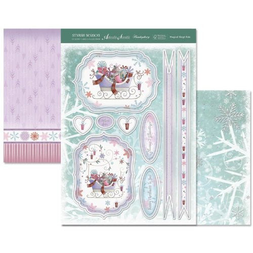 hunkydory adorable scorable luxury card collection stylish season magical sleigh ride - hanrattycraftsgifts.co.uk
