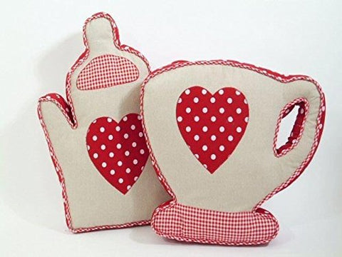 Cup / Teapot Shape Decorative Cushion for Sofa Living Room - hanrattycraftsgifts.co.uk