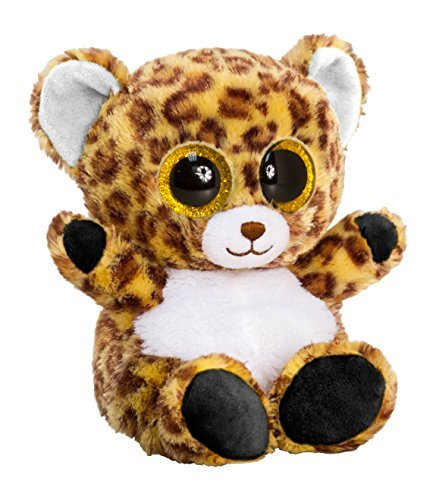 Keel Toys SF0433 15 cm Animotsu Leopard Plush Toy by Keel Toys - hanrattycraftsgifts.co.uk