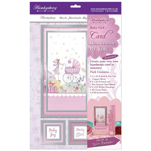 hunkydory handmade by you card kit birth of your daughter - hanrattycraftsgifts.co.uk