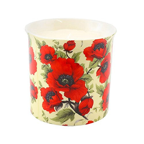 Exotic Scented Candle Jar Poppy - hanrattycraftsgifts.co.uk