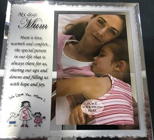 "The Prelude Collection My Dear Mum 4""x6"" Photo Frame Birthday Celebration Gift - hanrattycraftsgifts.co.uk"