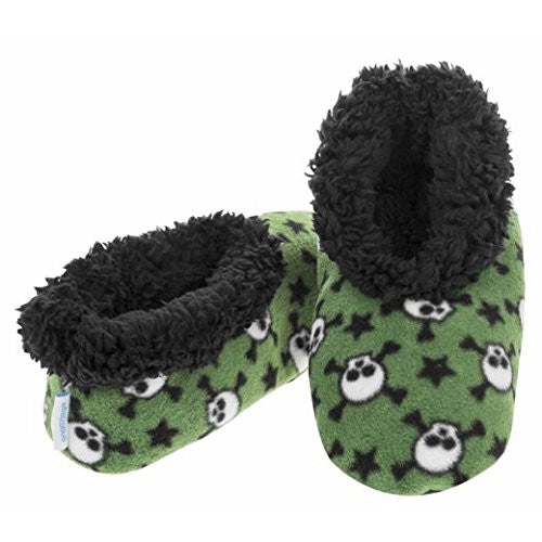 Snoozies Fleece Slippers Boys: Skulls: Medium (1-2) - hanrattycraftsgifts.co.uk