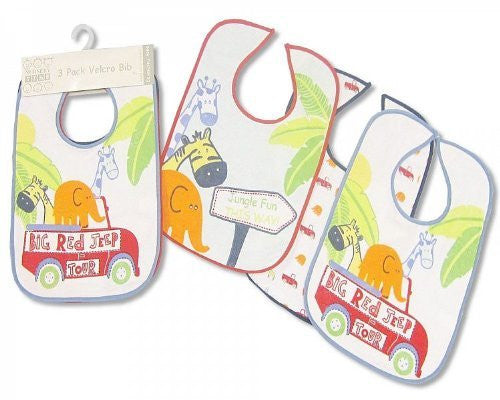 nursery time 3pack velcro large bibs - hanrattycraftsgifts.co.uk